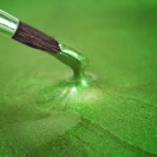 Metallic Food Paint - Pearlescent Spring Green in a 25ml Pot.