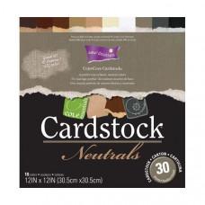 Coredinations Cardstock - Core Essentials - 12x12 Neutrals in 30 sheet pack
