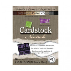 Coredinations Cardstock - Core Essentials -  4.25 x 5.5 Neutrals - 40 sheets