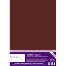 Centura Pearl, 10 Sheets of Dark Chololate Single Side 300gsm Printable A4 Card