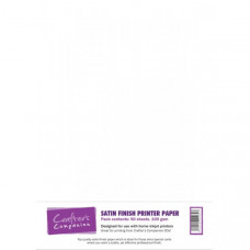 Printable 100gsm Satin Finish Paper in a 50 sheet pack by Crafter's Companion
