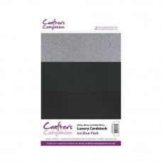 Luxury Mirror A4 Card Pack 250gsm in 3 mix of Ice Blue 30 sheet packs by Crafters Companion