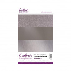 Luxury Mirror A4 Card Pack 250gsm in 3 mix of Silver 30 sheet pack by Crafters Companion