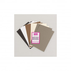 Mountboard A4 in 5 colours, 2 of each colour