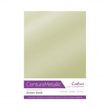 Centura Metalic A4 Printable 310gsm Printable Card Pack - Green Gold 10 sheets