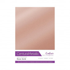 Centura Metalic A4 Printable 310gsm Printable Card Pack - Rose Gold 10 sheets