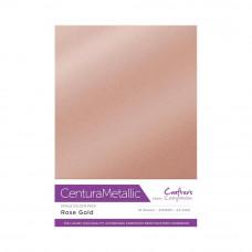 Centura Metalic A4 Printable 310gsm Printable Card Pack - Rose Gold 10 sheets