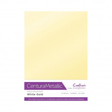 Centura Metalic A4 Printable 310gsm Printable Card Pack - White Gold 10 sheets