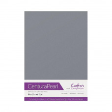 Centura Pearl, 10 Sheets of Anthracite Single Side 300gsm Printable A4 Card