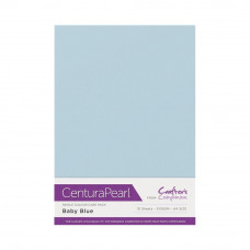 Centura Pearl, 10 Sheets of Baby Blue Single Side 300gsm Printable A4 Card