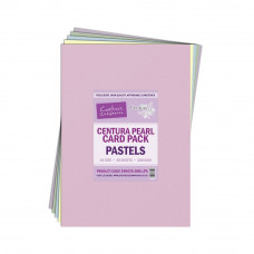Centura Pearl A4 Printable Card Pack 300gsm - Pastels 40 sheets by Crafters Companion