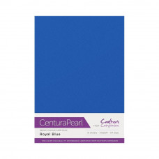 Centura Pearl, 10 Sheets of Royal Blue Single Side 300gsm Printable A4 Card