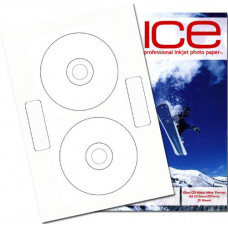 CD Labels - Glossy Inline 25 Sheets, 50 Labels.