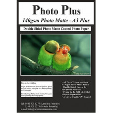 PhotoPlus 140gsm Double Sided A3 Plus Matte Coated Paper, 50 Sheets.