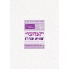 Centura Pearl Luxury A4 Fresh White  320gsm Double Sided Card in a 40 sheet Pack by Crafter's Companion