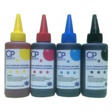 400ml of Universal Ink Compatible with Epson Printers - 4 Colour CMYK.