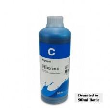 500ml of InkTec K3 Wide Format Ink Cyan.