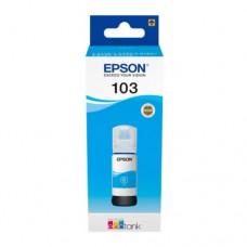 EP-103 Cyan Dye Genuine OEM Epson Bottle of Ink.