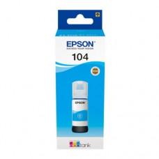 EP-104 Cyan Dye Genuine OEM Epson Bottle of Ink.