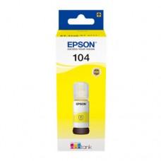 EP-104 Yellow Dye Genuine OEM Epson Bottle of Ink.