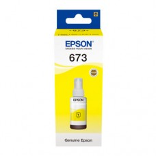 EP-673 Yellow Dye Genuine OEM Epson Bottle of Ink.
