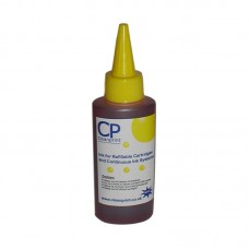 100ml of CleanPrint Universal Yellow Ink for Canon Printers.