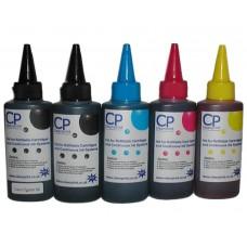 500ml of CleanPrint Universal Ink - CMYKK 5 Colour Set.
