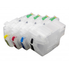 Refillable Cartridge Set Compatible with Brother LC3217 & LC3219 Series Cartridges.