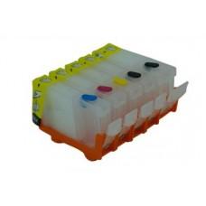 Refillable Edible Ink Cartridge Set for Canon PGI-520 - CLI-521 Cartridges.