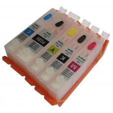 Refillable Edible Ink Cartridge Set for Canon PGI-570 - CLI-571 Cartridges