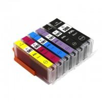 Compatible Cartridge Set for Canon PGI-580, CLI-581 High Capacity 6 Cartridge Set.
