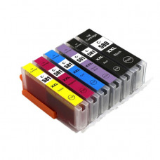 Compatible Cartridge Set for Canon PGI-580, CLI-581 High Capacity 6 Cartridge Set.