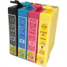 A set of pre-filled Epson Compatible T1816 dye sublimation ink cartridges.