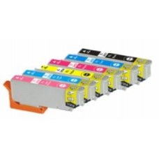 A set of pre-filled Epson Compatible T2438 dye sublimation ink cartridges.