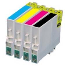 A set of pre-filled Epson Compatible T0615 dye sublimation ink cartridges.