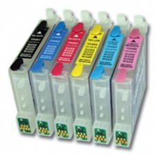 Epson Compatible T0487 Empty Refillable Cartridge Set.