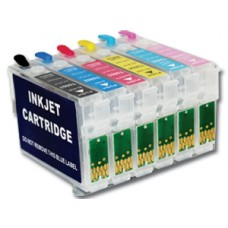 Epson Compatible T0807 Empty Refillable Cartridge Set.