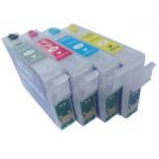 A set of pre-filled Epson Compatible T1295 dye sublimation ink cartridges.