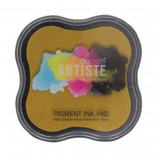Artiste - Pigment Mini Ink Pad - Dark Yellow.