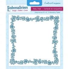 Embossalicious 6 x 6'' Embossing Folder - Daisy Chain.