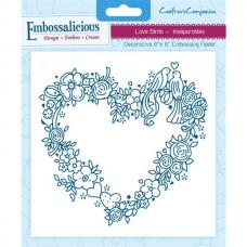 Embossalicious 6 x 6'' Embossing Folder - Love Birds.
