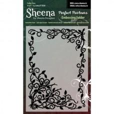 "Sheena Douglas Perfect Partners Embossing Folder 5 x 7"" - T""."