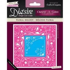 Diesire 'Create a Card' Metal Die - Floral Melody.
