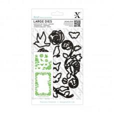 Xcut Large Dies - Rose Flourishes 10pcs.