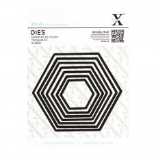 Xcut Nesting Dies - Nesting Hexagons 7pcs.