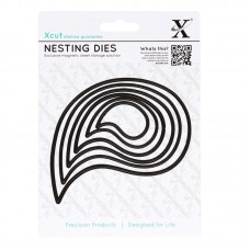 Xcut Nesting Dies - Paisley Leaves - 6pcs.