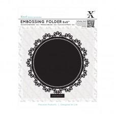 Xcut 6 x 6'' Embossing Folder - Lace Circle.