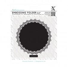 Xcut 6 x 6'' Embossing Folder - Lace Frame Square.