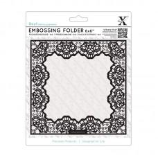 Xcut 6 x 6'' Embossing Folder - Lace Frame Delicate.
