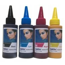400ml Epson Compatible Dye Sublimation Ink, 100ml each of Bk,C,M,Y - InkTek Brand.